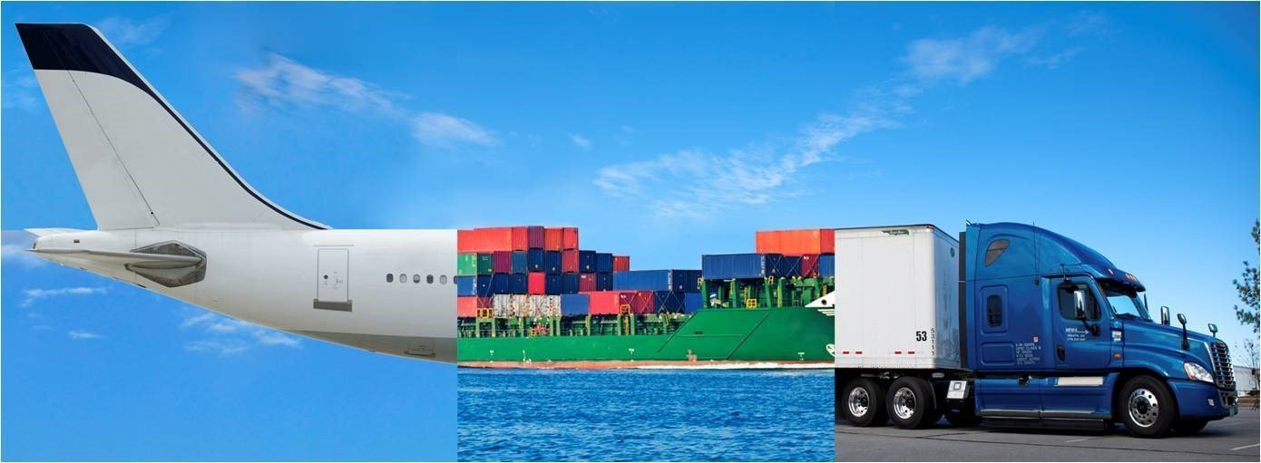 Plane and boat and lorry for import and export in vietnam